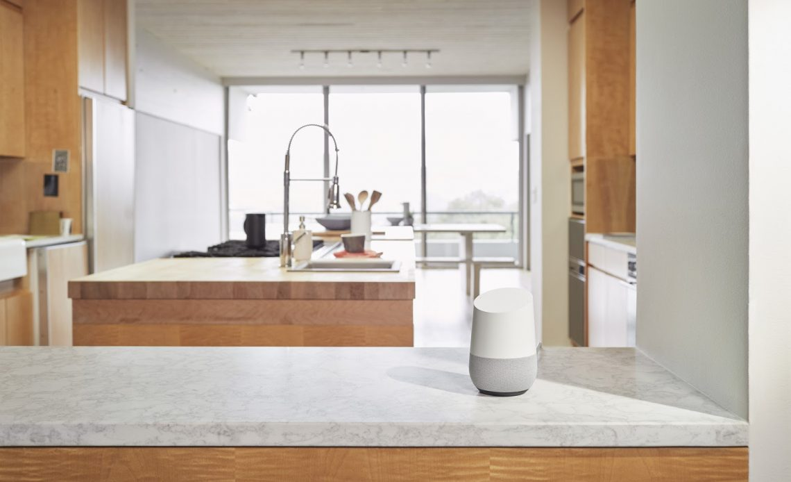 lo speaker google home in cucina