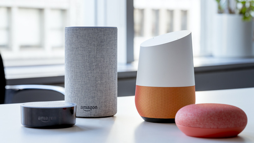 smart speaker google home e alexa di amazon