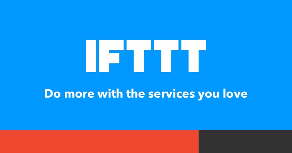 Un banner di IFTTT