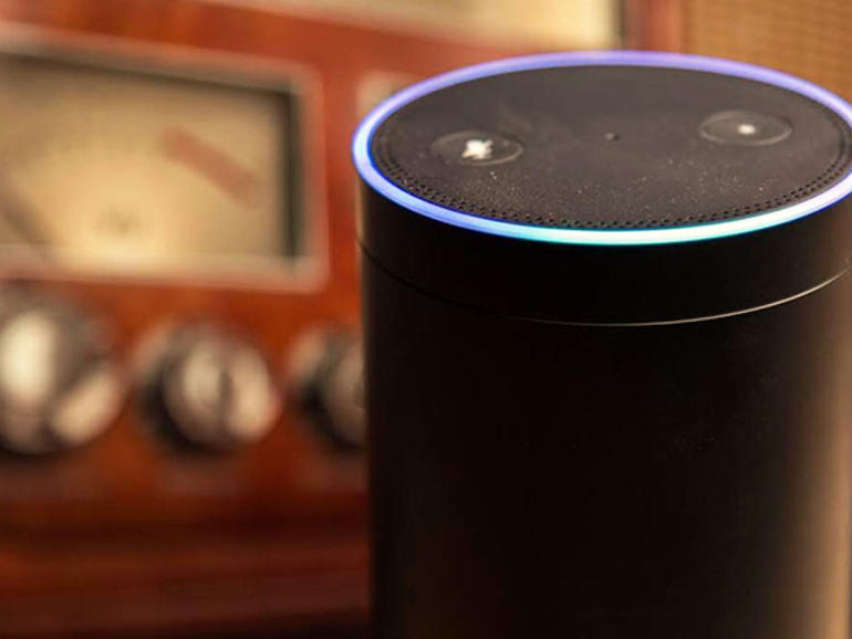 Un dispositivo compatibile con Amazon Alexa