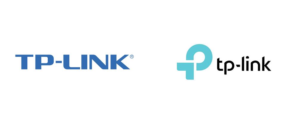 Il nuovo e il vecchio logo di TP-Link