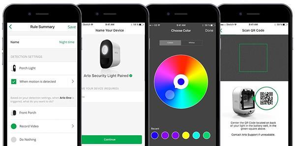 Applicazione Arlo Security Light