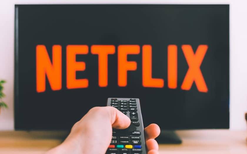 Il logo di Netflix nella TV