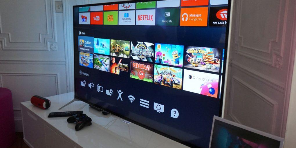 Un TV Box collegato a una televisione