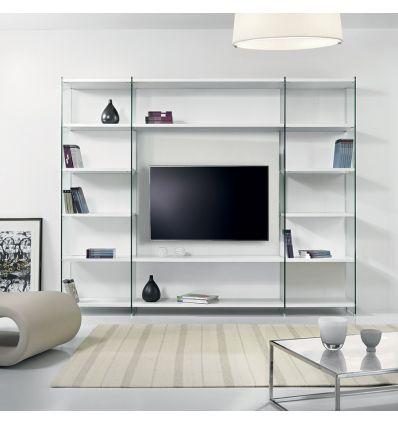 mobile tv con libreria