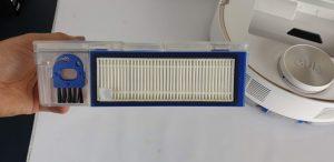 Recensione Eufy RoboVac L70 Hybrid - filtro hepa