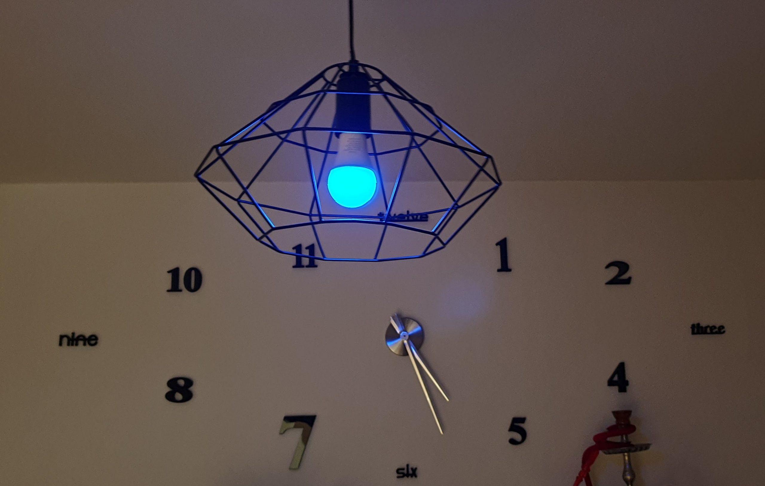 Kit Alexa Avidsen - lampadina rgb posizionata