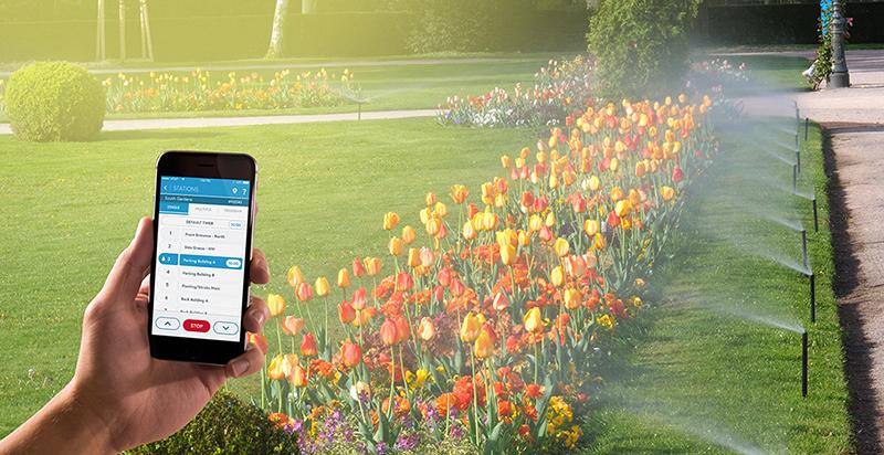 Irrigare i campi controllando il sistema con lo smartphone