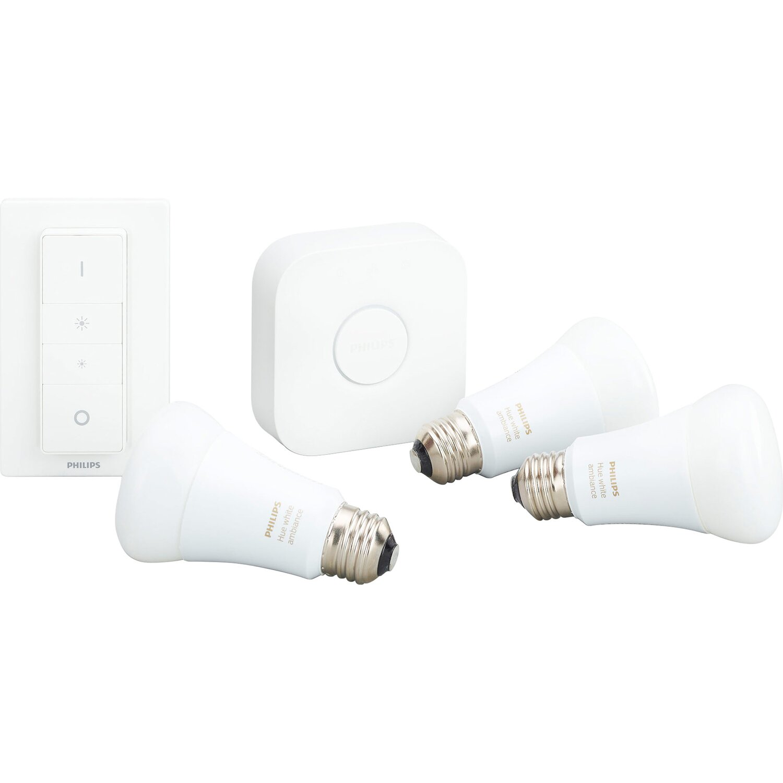Alcune lampadine smart, un hub e un interruttore