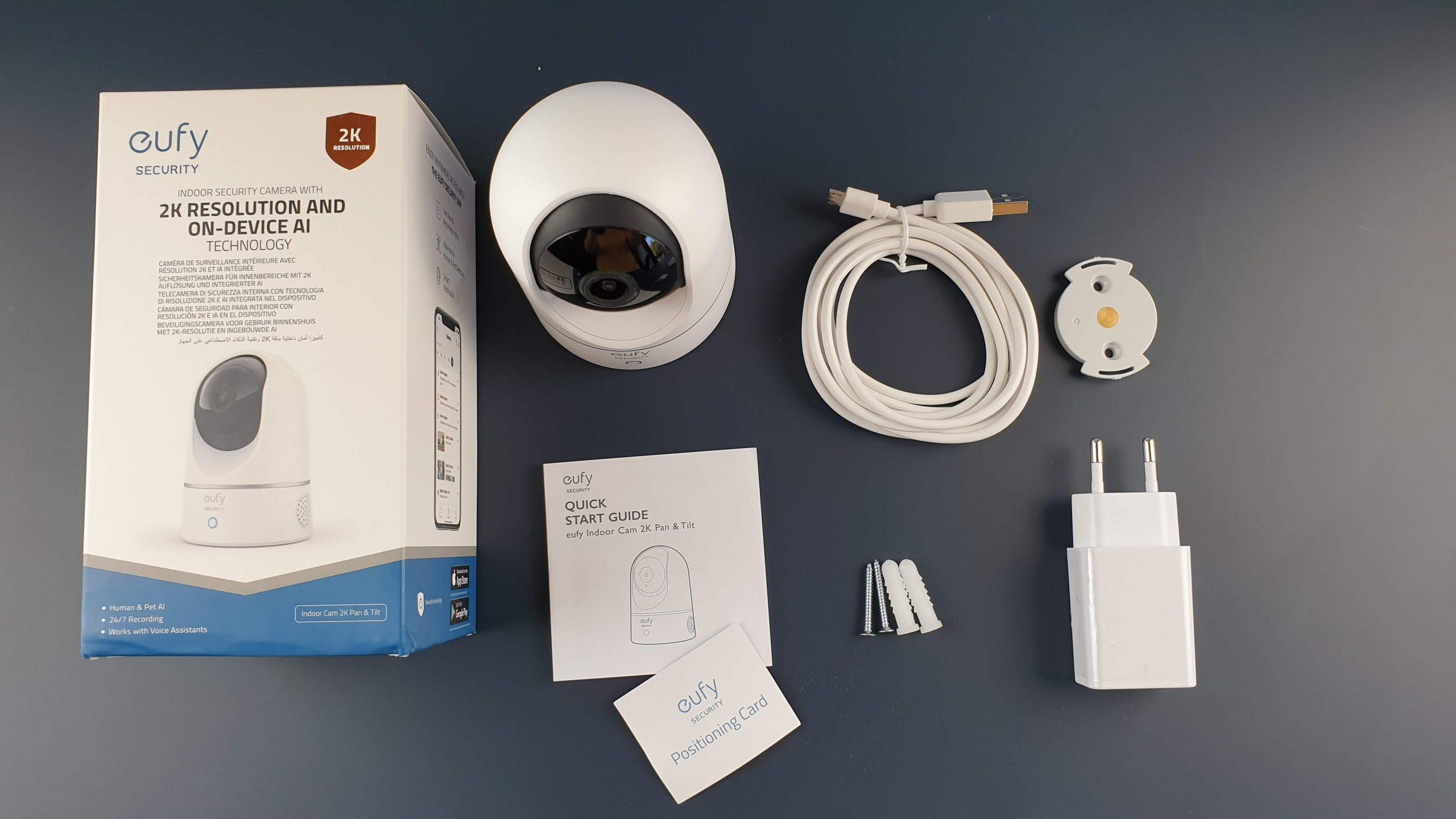 eufy Security 2K telecamera WiFi - contenuto confezione