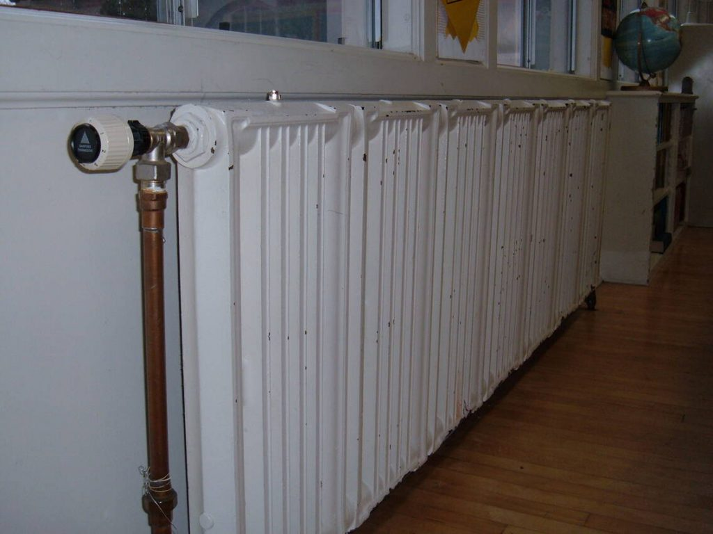 Un esempio di vecchio termosifone
