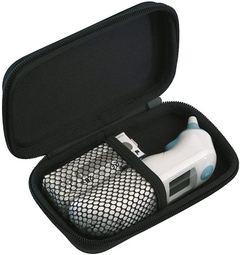 termometro a infrarossi auricolare con riscaldamento punta