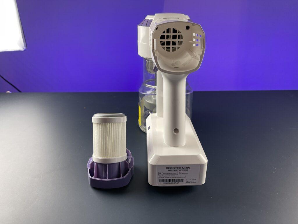 Recensione Tineco A10 Dash - filtro hepa