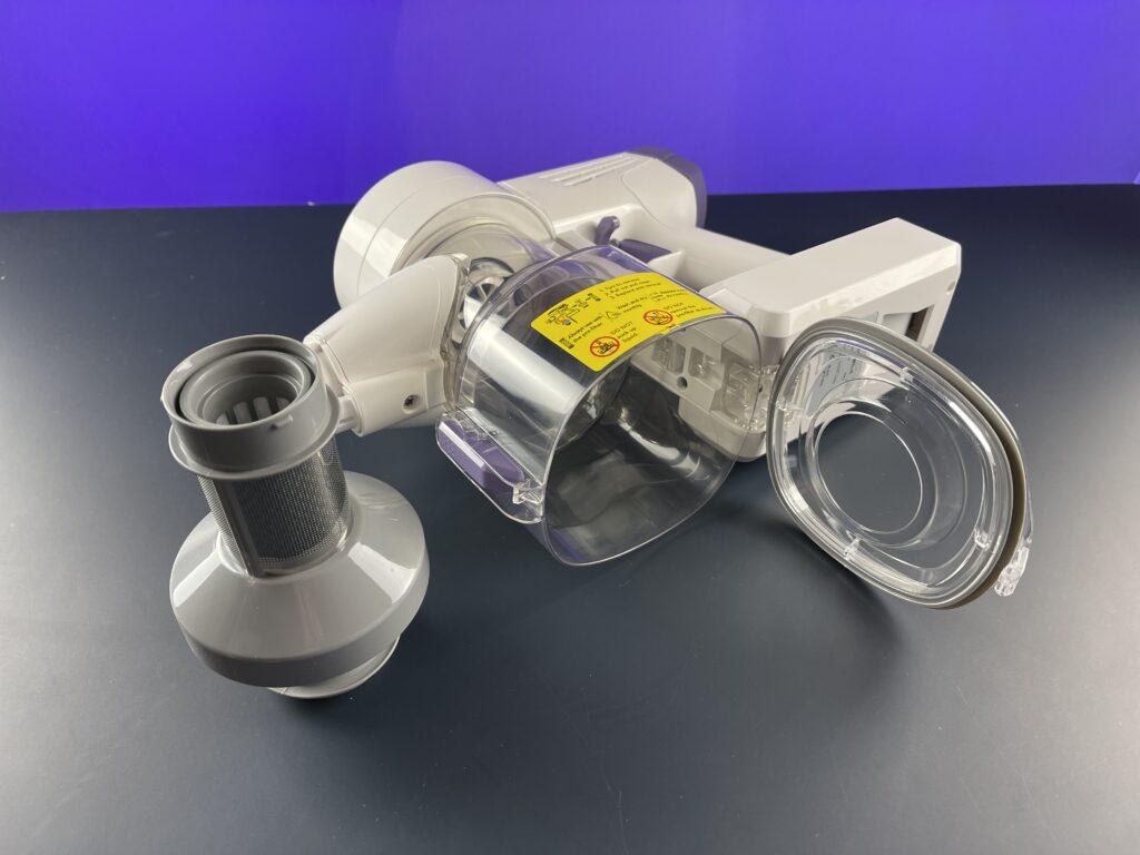 Recensione Tineco A10 Dash - serbatoio e filtro interno