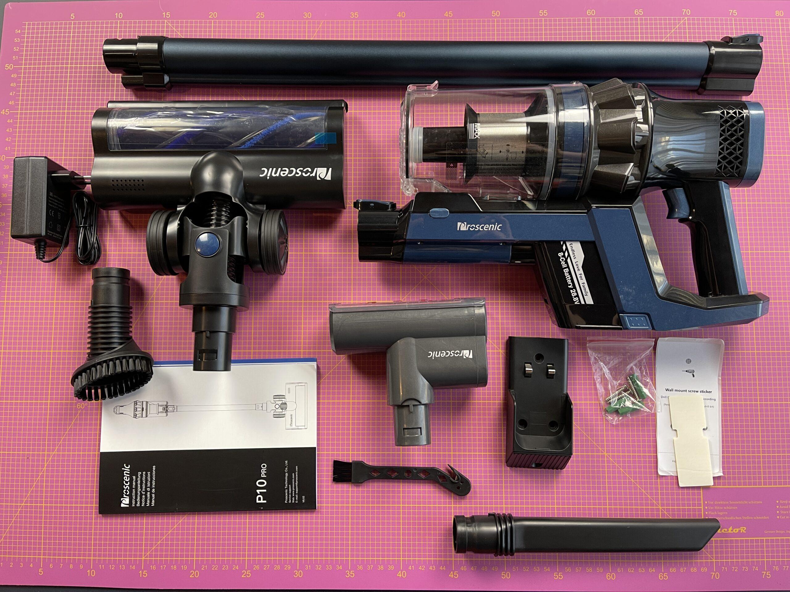 Proscenic P10 Pro accessori e dotazione completa