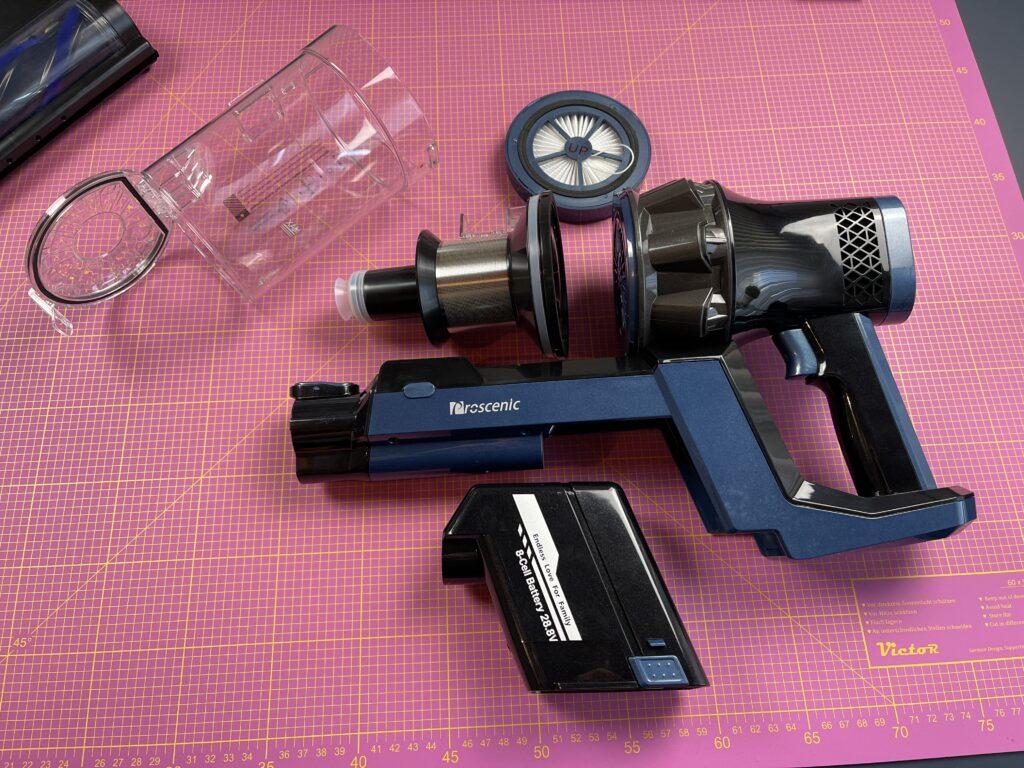 Proscenic P10 Pro serbatoio e filtri