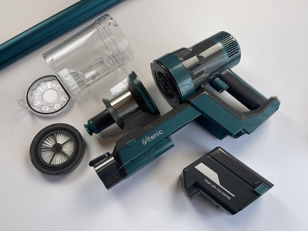 Recensione Ultenic U11 blocco serbatoio filtri e batteria