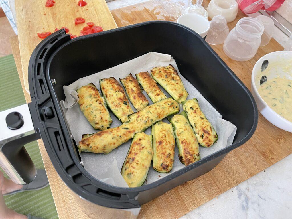 zucchine ripiene on friggitrice ad aria